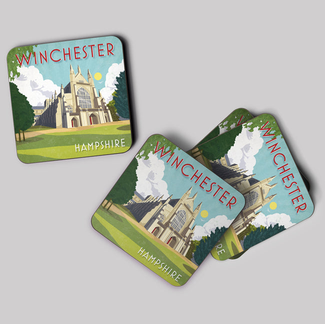 Winchester Art Deco Cork Coaster