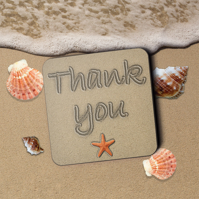 Thank You Greeting Card and Coaster by Jack Finley