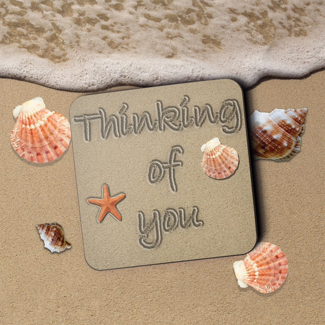 Thinking of You Greeting Card and Coaster by Jack Finley