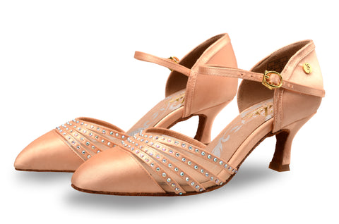 ADS Japan Women's Rhinestoned Smooth Shoes
