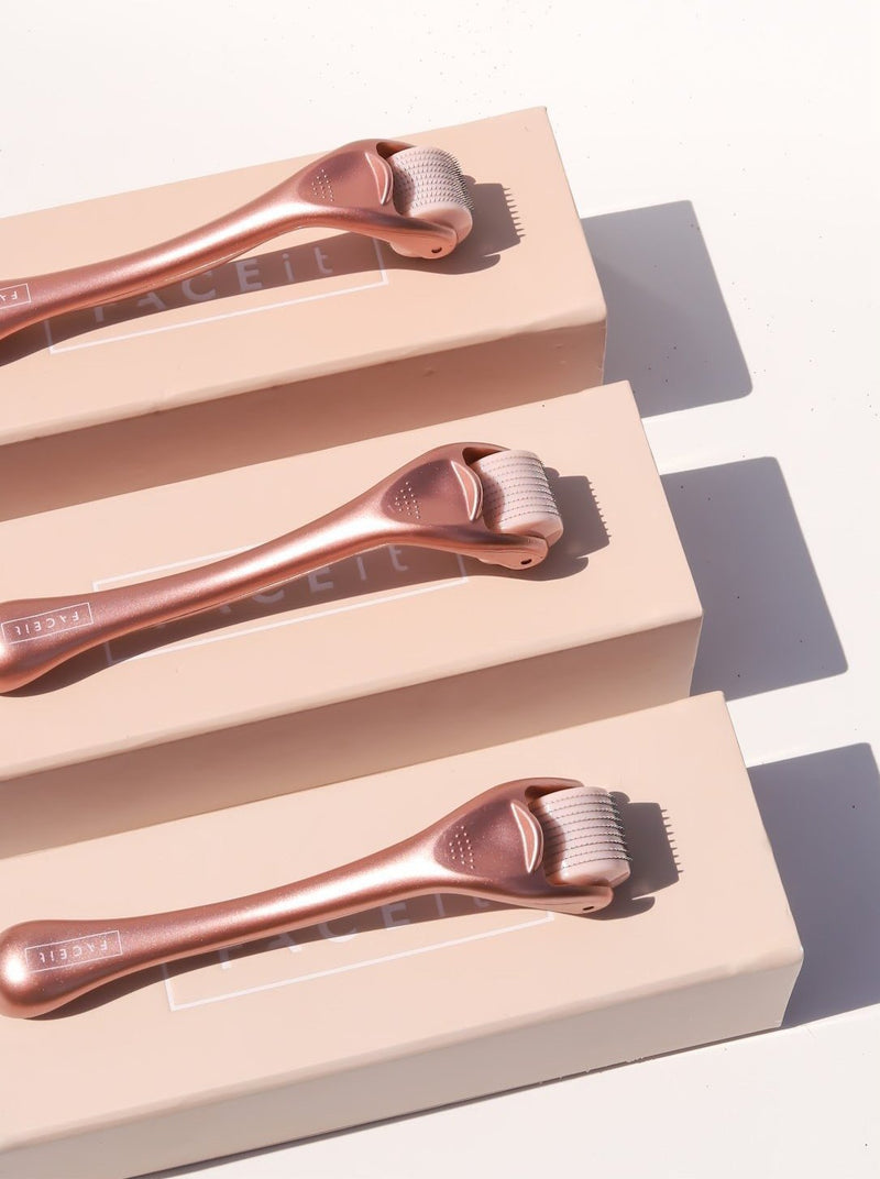NEW Rose Gold Derma Rollers + FREE Spray - FACE it