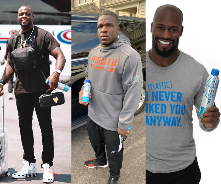 NFL Champs Vernon Davis, Frank Gore, and Mohamed Sanu Join the Refill Revolution with the Best Bottled Water