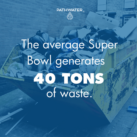 The average Super Bowl generates 40 tons of waste | PATHWATER