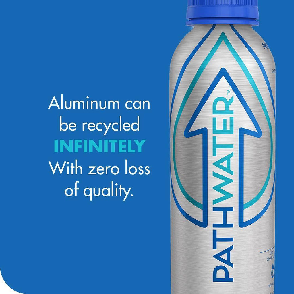 Aluminum can be recycled infinitely | PATHWATER