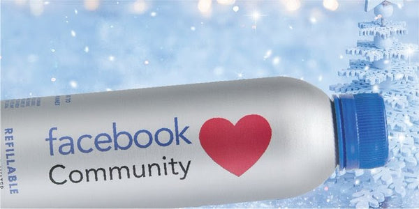 Facebook Community incorporating a PATHWATER refillable co-branded bottle