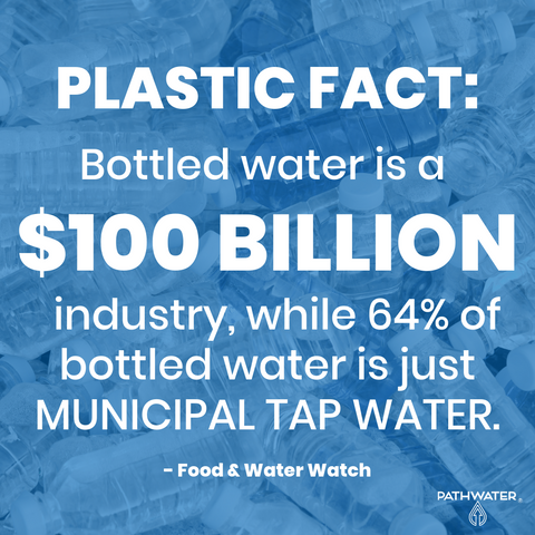 Bottled water is a $100 billion industry.