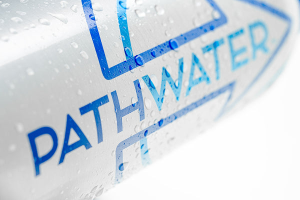 PATHWATER the new hybrid - purified water in an aluminum, reusable bottle