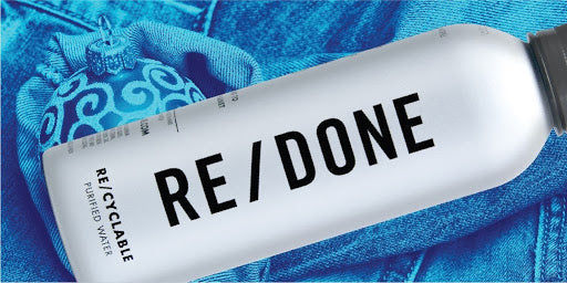 RE/DONE partners with PATHWATER | the best bottled water