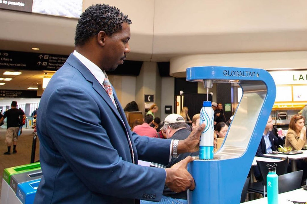 SFO Airport Implements Zero-Waste and Replaces Plastic Bottled Water with Reusable, Recyclable Alternatives like PATHWATER