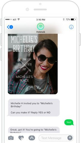 Sustainable party tip digital invitations | PATHWATER