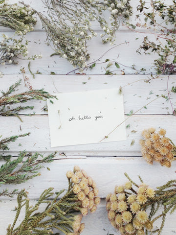 Sustainable party tip invitation card laced with seeds | PATHWATER