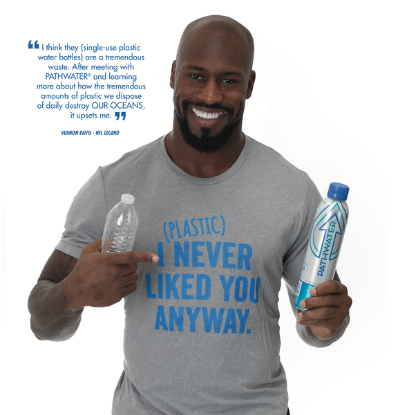 Vernon Davis is bringing a better path to fans with PATHWATER