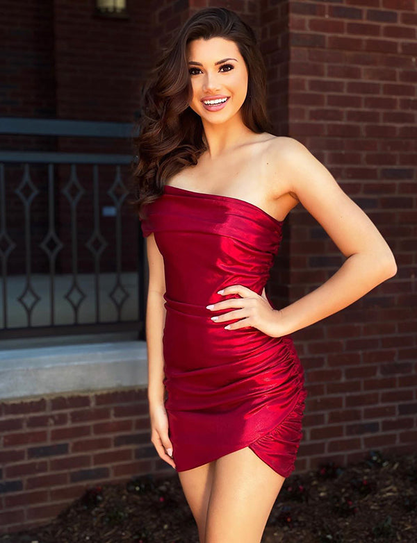 Red Homecoming Satin Dress