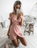 Off the Shoulder Pink Short Homecoming Dresses with Lace Cocktail Dress - ericprom