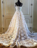 Stunning A Line Jewel Short Sleeves Tulle White  Wedding Dress with Appliques - ericprom