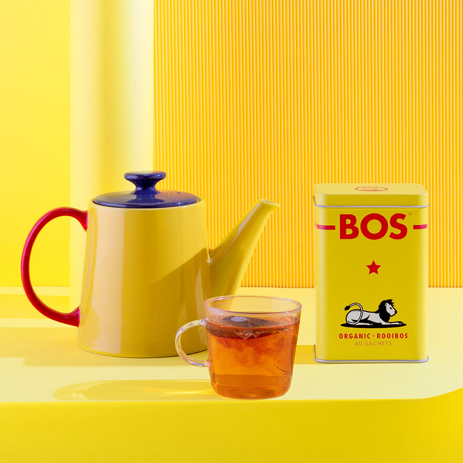 Organic Rooibos Tea Bags with Collectible Tin - 40 tea bags