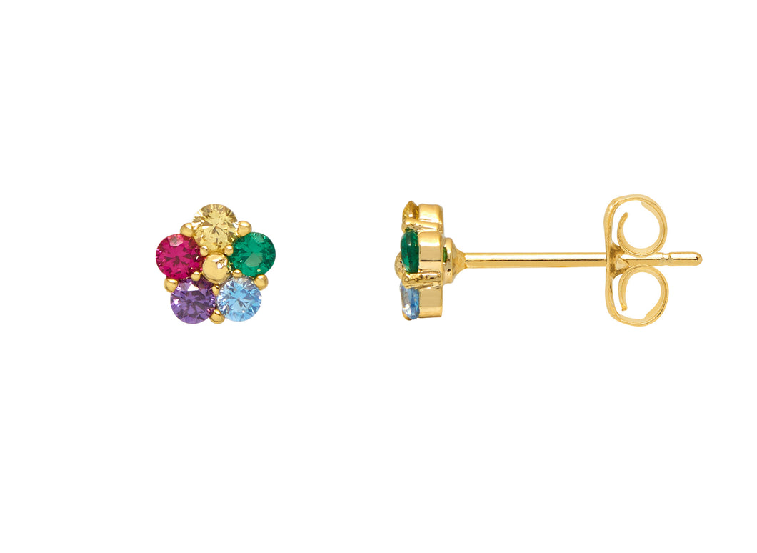Estella Bartlett Mini CZ Flower Studs Gold Plated