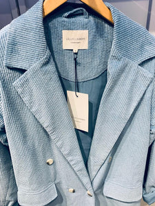 Lolly's Laundry Corduroy Double Breasted Jacket- Baby Blue