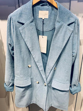 Load image into Gallery viewer, Lolly's Laundry Corduroy Double Breasted Jacket- Baby Blue