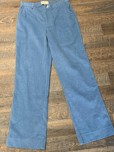 Lollys Laundry Corduroy Straight Leg Trousers- Baby Blue