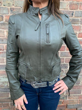 Load image into Gallery viewer, MDK Rucy Leather Jacket- Khaki