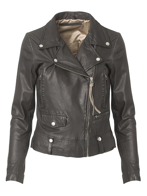MDK Seattle New Thin Leather Jacket- Black