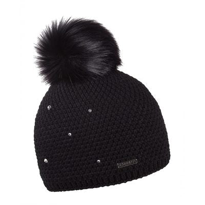 Sabbot Sigrid Knit Diamanté Hat- Black