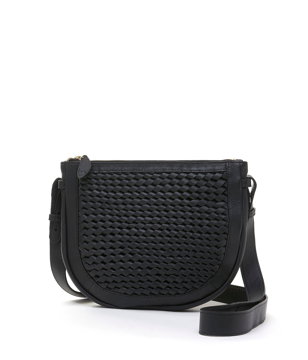 Bell & Fox Caro Leather Cross Body Bag- Black