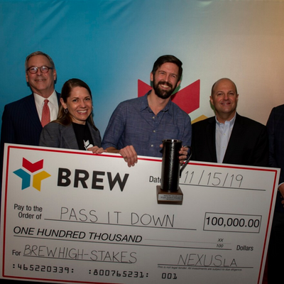 Pass It Down wins $100,000 and the BREW High-Stakes Pitch Competition