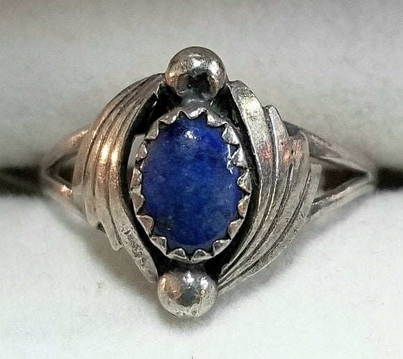 Lapis & Sterling Silver Ring