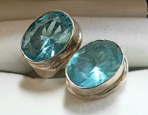 Topaz and sterling ring