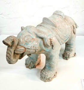Chinese Celadon Asian Buddhist Elephant