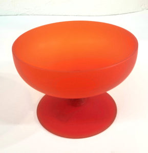Moretti orange glass vase