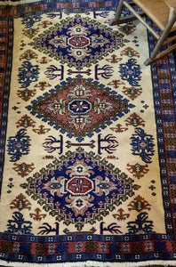 Blue & Cream Persian Rug