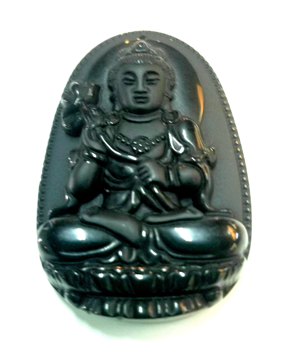 Black Obsidian Carved Buddha