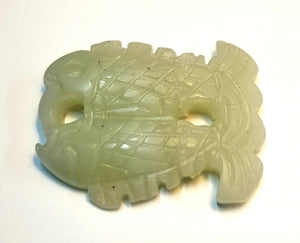 Jade Twin Fish Pendant