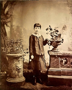 "Antique ""Captivating Look"" child portrait. Aug 28th, 1876"