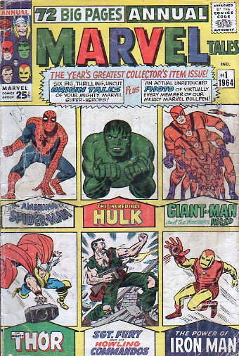 72 Big Pages Annual Marvel Tales 1 1964