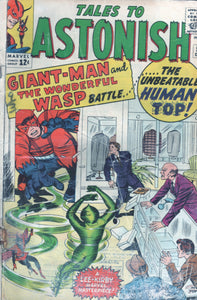 Tales to Astonish 50 Dec Giant-Man & the Wonderful Wasp battle the Unbeatable Human Top