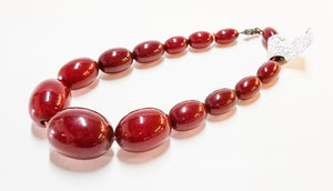 Cherry Amber heavy graduated necklace