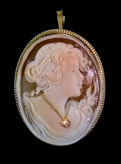 Ivory Cameo with Diamond