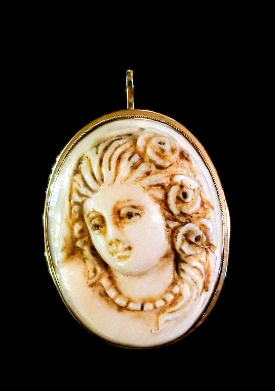 Ivory and Gold Cameo