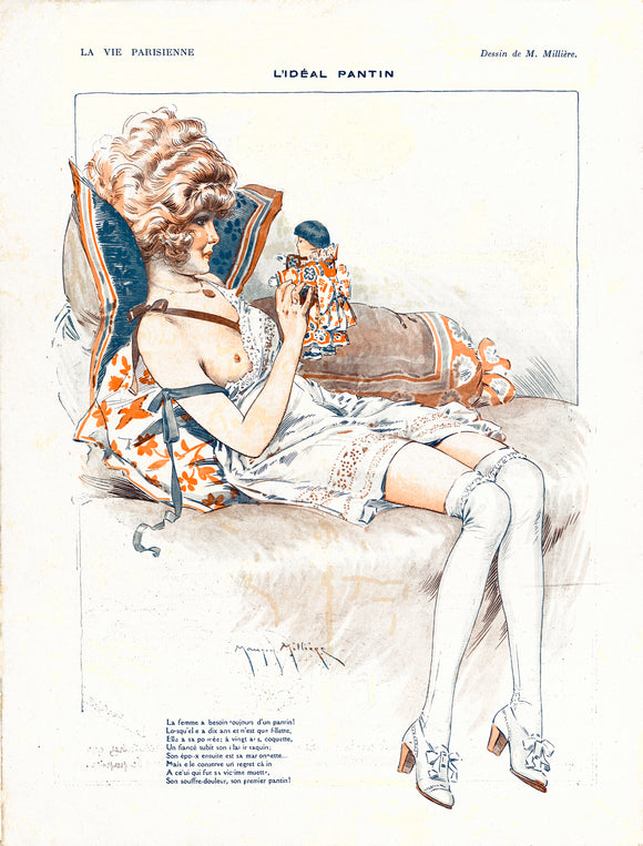Poster L'Ideal Pantin (The ideal doll) from La Vie Parisienne April 1918
