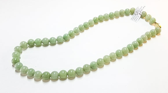 Chinese vintage celadon jade necklace