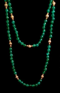 Jadeite and gold Necklace