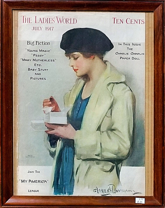 Original Ladies' World July 1917 Magazine Cover