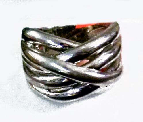 Silver Braided Men's Ring