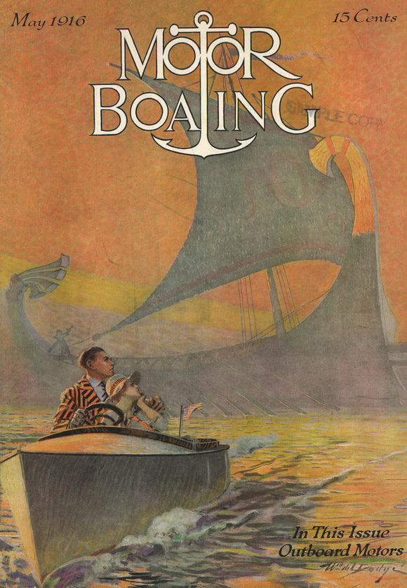 Poster Cover of Motor Boating May 1917