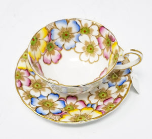 """Annette"" Multi colored Tea cup"