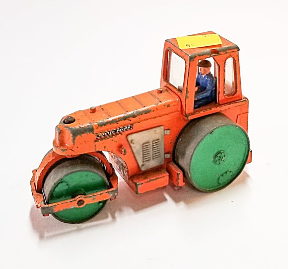 Antique Orange Dinky Master Pavior Steam Roller